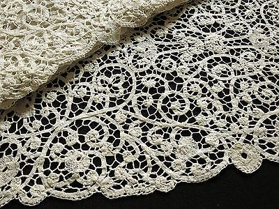 Antique c1930 Handmade ITALIAN CANTU LACE Bobbin 12 PLACEMATS plus TABLE RUNNER