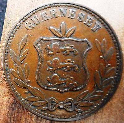 GUERNSEY -  8 Doubles 1868 (low mintage) ... (3533)