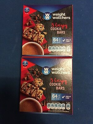 New Smartpoints chocolate bars.  box of  Weight Watchers snack it Crispy Cookie