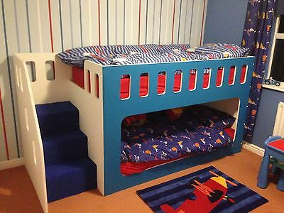 Handmade Kids Bunk Cabin Bed With Stairs