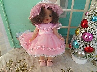 Mint pink Dress and Hat for Muffie (no doll)