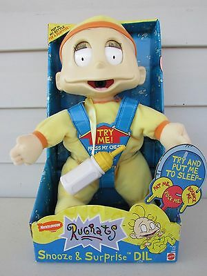 """RUGRATS Baby Dil Try to Put Me to Sleep Animated 14"""" Baby Doll NIB"""