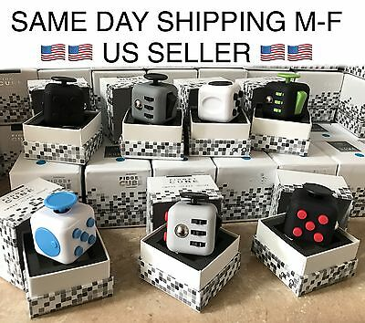 Fidget Cube Anxiety Stress Relief Desk Toy Focus Puzzle Adult Kids US SELLER