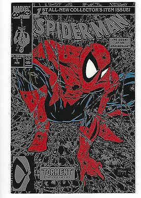 Spider-Man Silver Edition #1 Marvel Comic Book 1990 Autograph Todd McFarlane