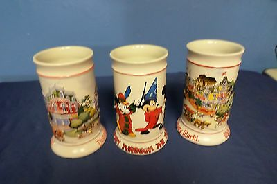 Lot of 3 Disney Steins Lot#39-0700