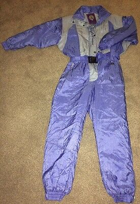 Vintage Retro Campri Ski Suit Size 16 All-in-one 1980's Womens Chloe
