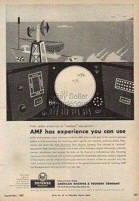 1957 Radar Data Display System AMF Defense print Ad