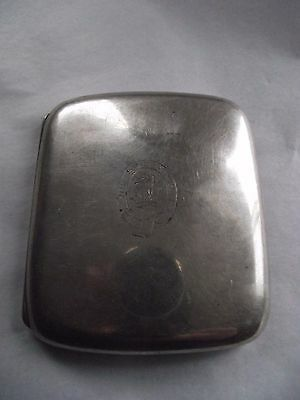 Hallmarked Silver Cigarette Case with WELD Family Crest 104 grms
