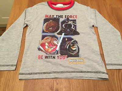 BNWOT Boys 4-5 Years ANGRY BIRDS STAR WARS Long Sleeve Top