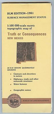 USGS BLM edition topographic map New Mexico TRUTH OR CONSEQUENCES 1981