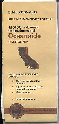 USGS BLM edition topographic map California OCEANSIDE 1983