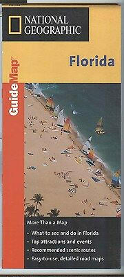 National Geographic Maps MapQuest State Guide FLORIDA c.1999 - laminated