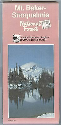 USDA Forest Service map MT. BAKER-SNOWUALMIE National Forest Washington 1993