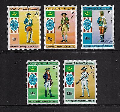 MAURITANIA - 1976 Bicentenary of American Independence, set of 5