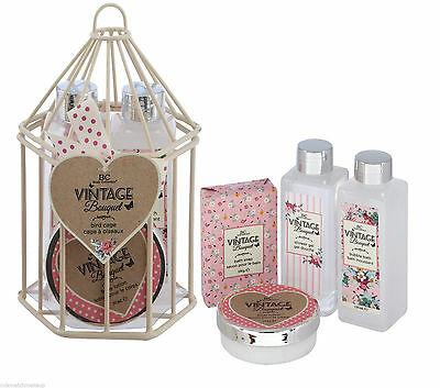 Body Collection Vintage Bouquet Birdcage Bath and Body Gift Set - Perfect Gift