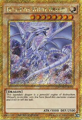 BLUE-EYES WHITE DRAGON - (MVP1-ENGV4) - Gold Rare - Limited Edition - Yu-Gi-Oh