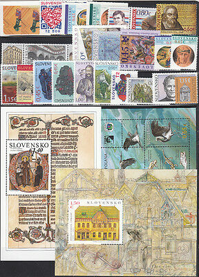 SLOVAKIA MNH Complete Year set 2015 23 Stamps+ 3 S/S+ 4 M/S + 3 Booklets