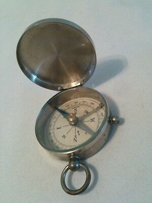 Antique Pocket Compass Made in Germany Hinged Lid Compact Style