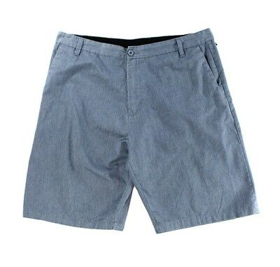 Subculture NEW Blue Mens Size 38 Classic-Fit Striped Seamed Shorts $64 110