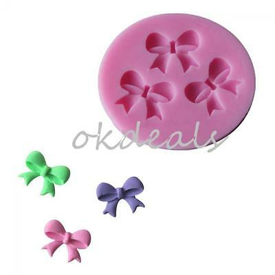 Tool Fondant Baking Cake Decorating Bowknot Chocolate Mould Silicone Gel