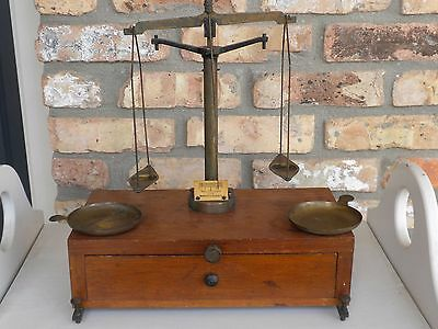 Vintage Voland & Son New Rochelle Analytical Balance Scale Apothecary Or Mining