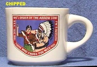 BSA Mug NOAC 1983 Order of the Arrow Conference chipped
