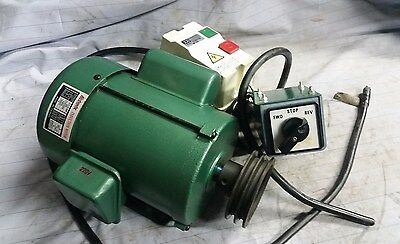 Grizzly Shaper Motor 1.5 HP 1 Ph 3450 rpm Woodwork Delta Powermatic Craftsman
