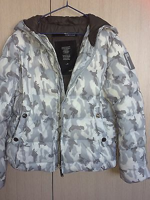 Bomboogie Italy Boys Pure Down  Hoodie Jacket Size 8 Pre-Loved