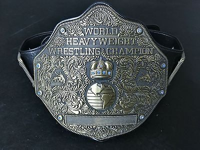 Fandu Adult Big Gold Textured Wrestling Championship Belt Incredibly Fast Ship