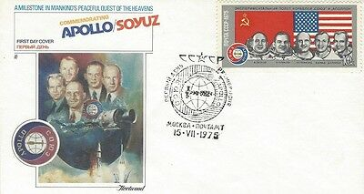1975 USSR - Apollo-Soyuz Space Mission FDC with Fleetwood cachet #3