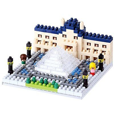 Kawada NBH_086 Nanoblock The Louvre Museum 3D Puzzle F/S from Japan