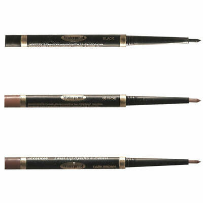 Laval Waterproof Twist Up Eyebrow Pencil, Black, Blonde or Brown