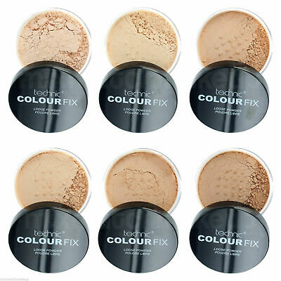 Technic Colour Fix Loose Powder Face Foundation Matte Make-Up Fixing Powder