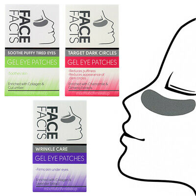 Pretty Gel Eye Patches - Soothes Tired, Dark or Puffy eyes, Various Treatments