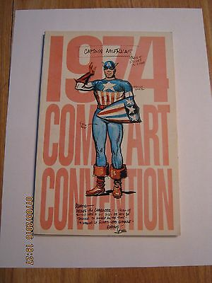 Vintage comic art convention New York City 1974 Captain America VF plusThe