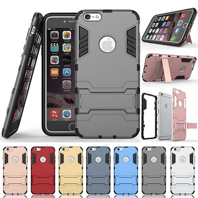 Hybrid Rugged Shockproof Armor Kickstand Protector Case For iPhone 5 SE 6 S Plus