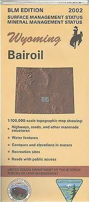 USGS BLM edition topographic map Wyoming BAIROIL 2002 mineral