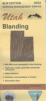 USGS BLM edition topographic map Utah BLANDING 2002
