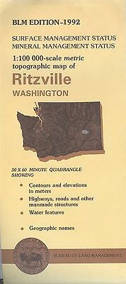 USGS BLM edition topographic map Washington RITZVILLE 1992 mineral
