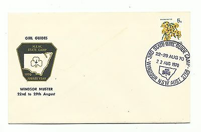 Scout Australia Girl Guide 1970 Nsw State Camp Windsor Muster Cachet Cover Stamp