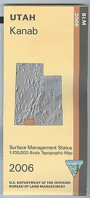 USGS BLM edition topographic map Utah KANAB 2006
