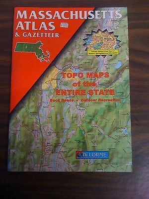 DeLorme Atlas & Gazetteer MASSACHUSETTS 1998