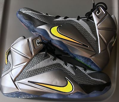 NEW! Nike LeBron 12 Wolf Grey Flight Pack Kids Basketball Shoes Size-7Y GS Youth
