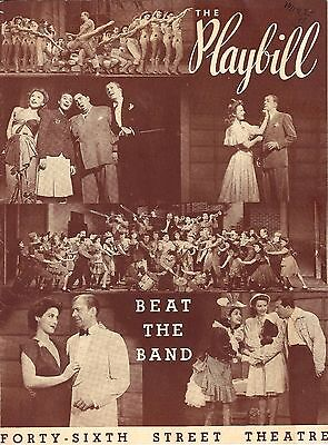 """Jack Whiting """"BEAT THE BAND"""" Susan Miller / Jerry Lester 1942 FLOP Playbill"""