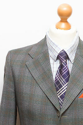 Gents Vintage Tailored Mens Checked 2 Piece Suit 38R 34/28L Pure  Wool