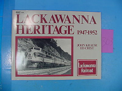 Jp303 Book: Lackawanna Heritage 1947-1952 By John Krause And Ed Crist