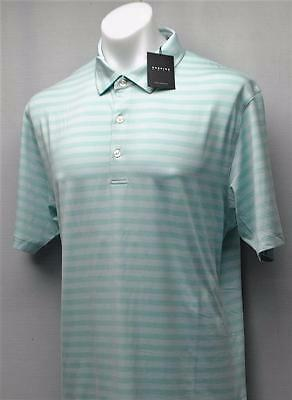 New Mens Dunning Golf golf polo shirt Large Beach Glass Striped
