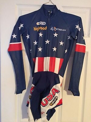 SKINS USA Cycling Team Stars & Stripes Long Sleeves Skinsuit Medium