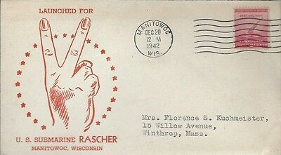 1942 Launching of U.S.Submarine USS Rascher cover