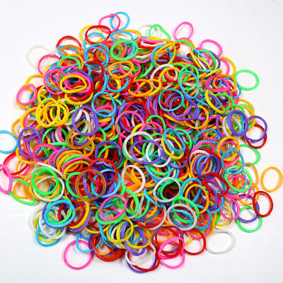 "1000pcs Dog Hair Rubber Bands Colored Top Quality Elastic 1/2"" for dog gromings"